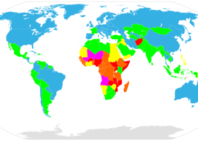 Countries by fertility rate