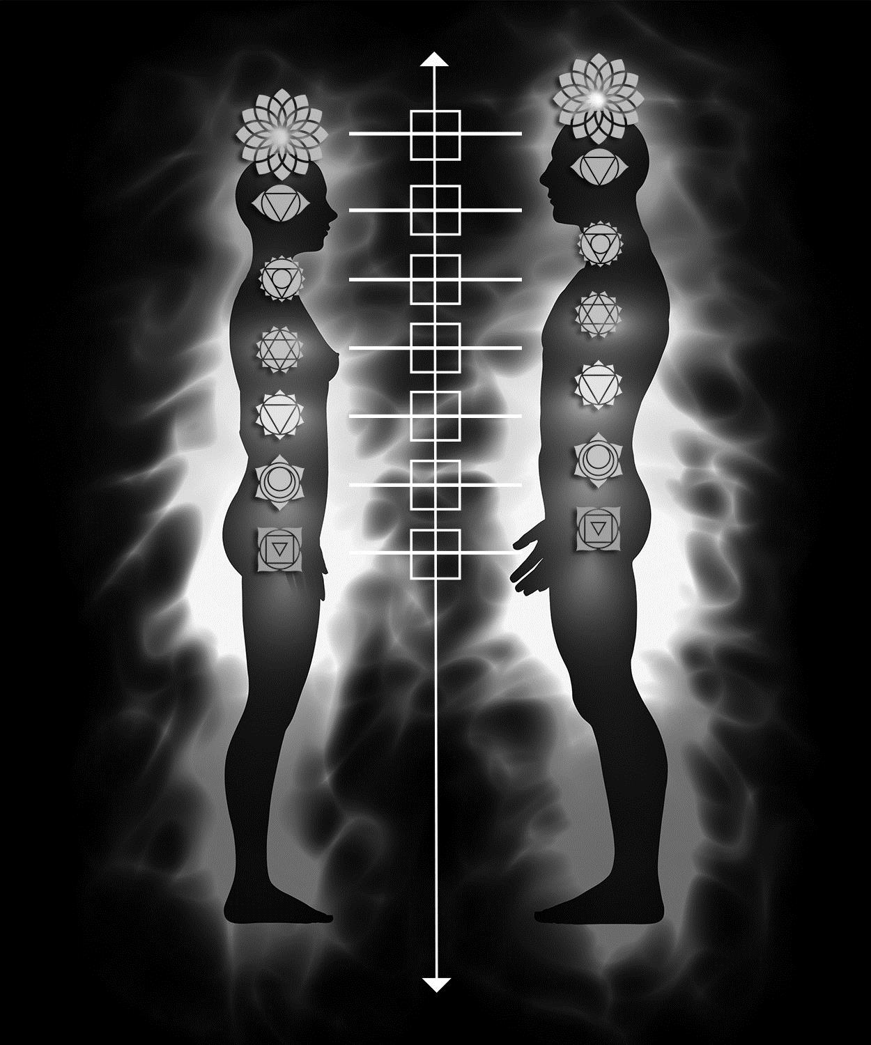 Not in Book: Couple balancing and harmonizing feminine-masculine polarities in all four quadrants at the level of all seven Chakras