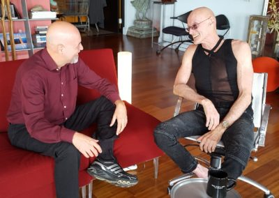Ken Wilber and Martin discussing Sex Purpose Love