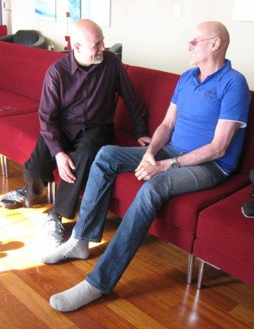 Martin at his first visit with Ken Wilber 2/9/2012 Article